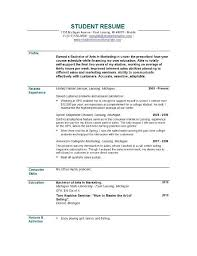 sample resume for students sample resume and free resume