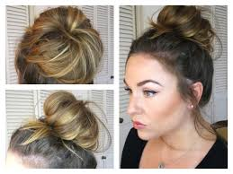 messy bun topknot tutorial how to get a big bun with fine hair