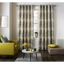 jeff banks home mexico grey wave pattern readymade eyelet curtains