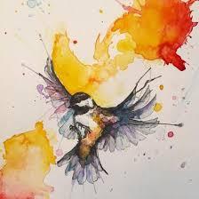 watercolor tutorial chickadee chickadee 8 x 6 5 watercolour and black ink http ift tt 2j6bmgz