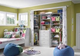 modern bedroom decoration using white curtain closet door