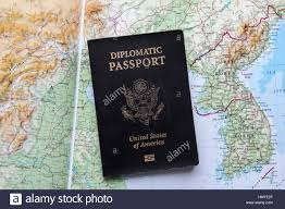 A Map The United States by Diplomatic Passport Of The United States Of America On A Map Of