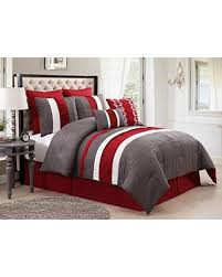 Black And Red Comforter Sets King Deals On Luxury Home 8 Piece Lawrence Comforter Set Red Grey King