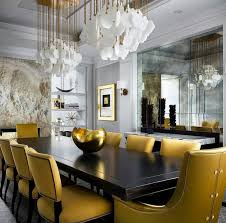 gorgeous dining room in metal tones kambariai pinterest