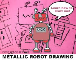 how to draw a robot deep space sparkle