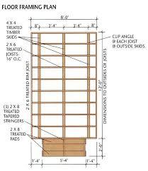 Floor Framing Plan Building Your Own Chicken Coop Plans Supplies Materials Backyard