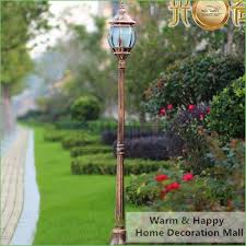 lighting outdoor light post with electrical outlet outdoor lamp