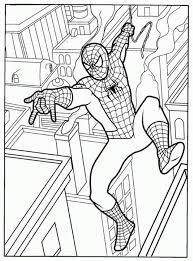 printable spiderman coloring kids free coloring book