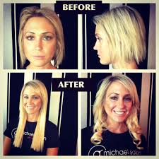 lox hair extensions before after want voluminous tresses g michael salon