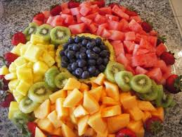 fruits arrangements for a party it s written on the wall arranging fruit to make it look fabulous