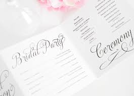 wedding programs with pictures charming script wedding programs wedding invitations
