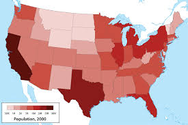 map us states population fileus population mappng wikimedia commons map of usa map of usa