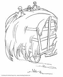 farm equipment coloring pages farm hay wagon coloring page and
