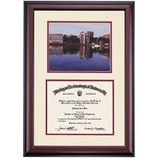 tech diploma frame michigan technological premier keweenaw waterway view photograph