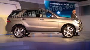 m class mercedes price mercedes m class launch in delhi indian autos