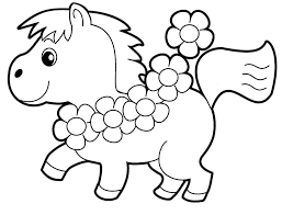 Little Horse Preschool Coloring Pages Animals Cartoon Coloring Coloring Pages Preschool