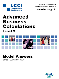 advanced business calculation series 4 2007 code3003 internal