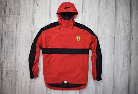 ferrari clothing ferrari red ferrari anorak jacket waterproof racing f1 xl size xl