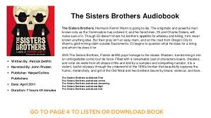 download mp3 from brothers the sisters brothers audiobook the sisters brothers audiobook free