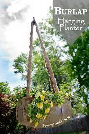 Diy Hanging Planters by Diy Burlap Hanging Planter Tutorial Burlap Planters And Gardens