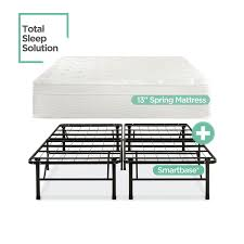 Platform Metal Bed Frame Amazon Com Night Therapy 13 Inch Euro Top Spring Mattress U0026 Bed
