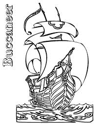 pirate ship boats buccaneer coloring pages pirate ship boats