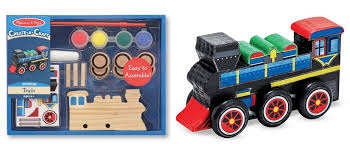 Build Your Own Wooden Toy Train by Amazon Melissa U0026 Dough Make Your Own Train Only 5 99 Reg 8 99