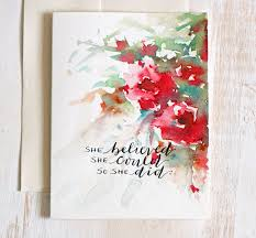 painting greeting cards in watercolor original greeting card floral watercolor lettered card