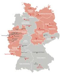 Map States map of germany solution conceptdraw com