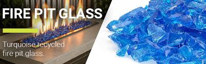 Fire Pit Glass by Turquoise Medium Fire Pit Glass