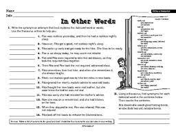 free printable u201cusing a thesaurus u201d worksheet