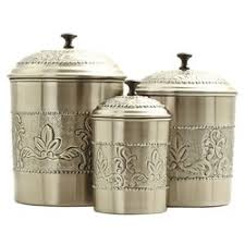 canister kitchen set 3 kitchen canister set reviews wayfair