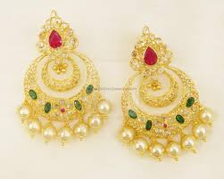 chandbali earrings earrings jhumkis chandbali gold jewellery earrings jhumkis