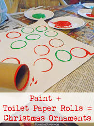easy christmas craft toilet paper roll ornament painting