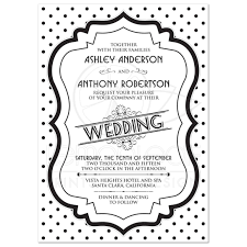 polka dot invitations wedding invitation retro 50s black white polka dot