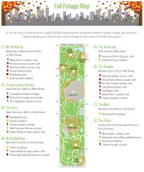 Map Central Park Central Park U0027s Fall Foliage Map Shows You Where To Find The Most