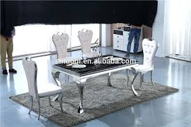 marble and stainless steel dining table stainless steel dining table set innovative steel dining table steel