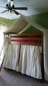 Bunk Bed Tent Canopy Bunk Bed Tent Made From Drop Cloths For Boys Cing Themed Room