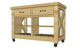 Kitchen Island Building Plans White Rustic X Kitchen Island Diy Projects