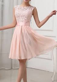 pink dress light pink patchwork lace hollow out bandage bodycon prom