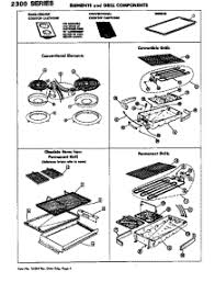 Jennair Electric Cooktop Parts For Jenn Air 2300 Cooktop Appliancepartspros Com