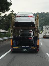 toyota dealer japan 2018 toyota camry spotted in a transporter in japan