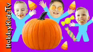 halloween pop tarts huge candy pumpkin surprise oreo pop tart challenge hobbykidstv