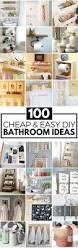 shelf ideas for bathroom 100 cheap and easy diy bathroom ideas prudent penny pincher
