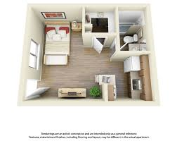 Floor Plans Studio Apartment Apartments And D - One bedroom apartment designs example