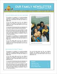 7 family newsletter templates u2013 free word documents download