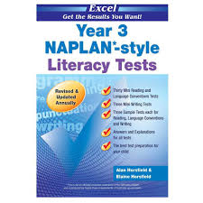 excel year 3 naplan style literacy tests big w