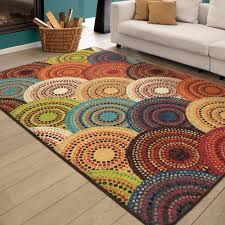 rug bright multi colored area rugs home interior design