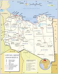 Map Of Al Administrative Map Of Libya Nations Online Project