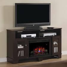 lasalle electric fireplace media console in oak espresso